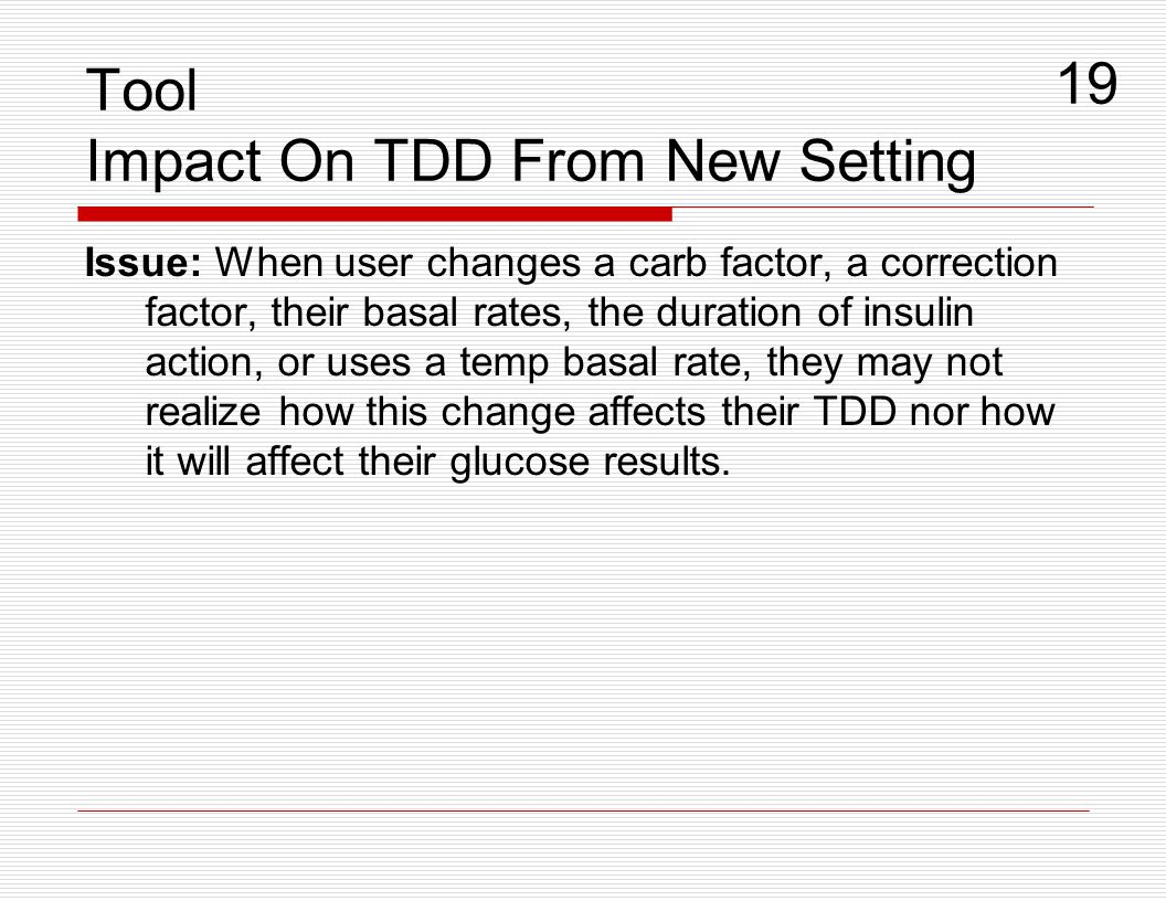 Issue: When user changes a carb factor, a correction factor, their basal rates, the duration of insulin action, or uses a temp basal rate, they may no