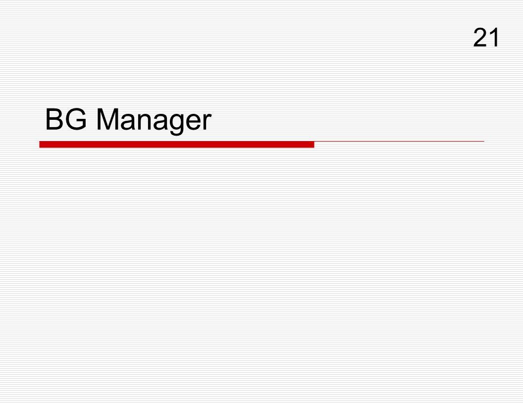 BG Manager 21