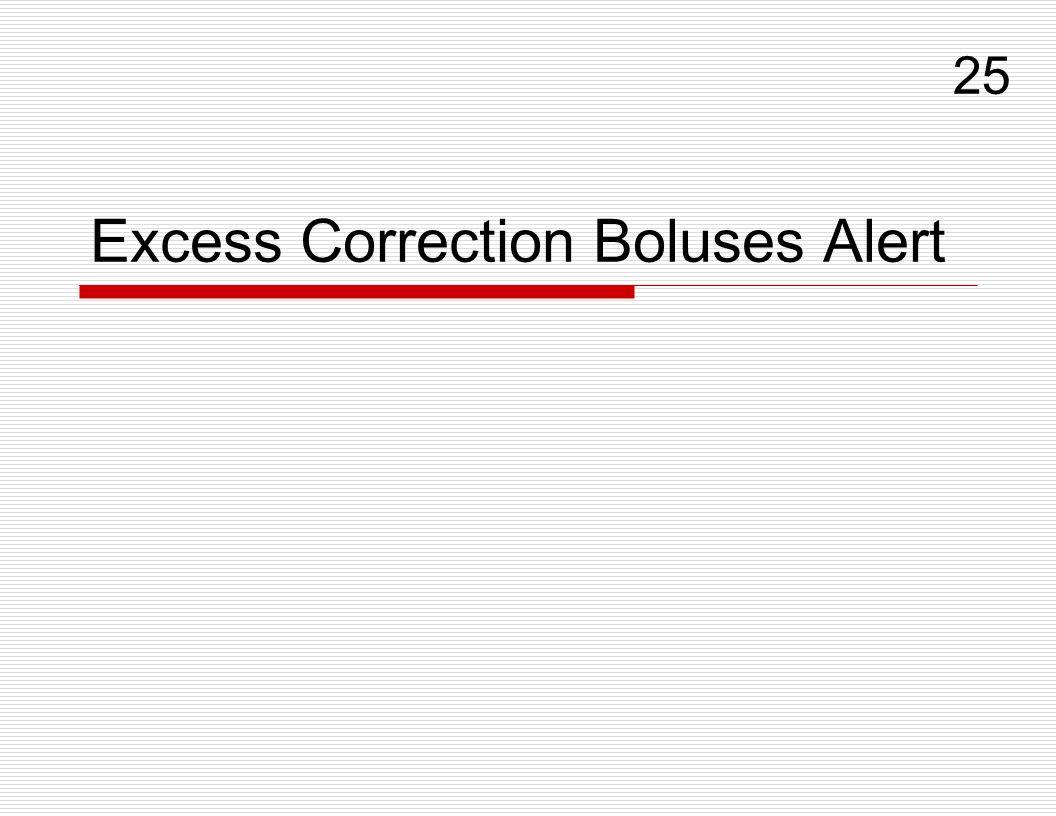 Excess Correction Boluses Alert 25