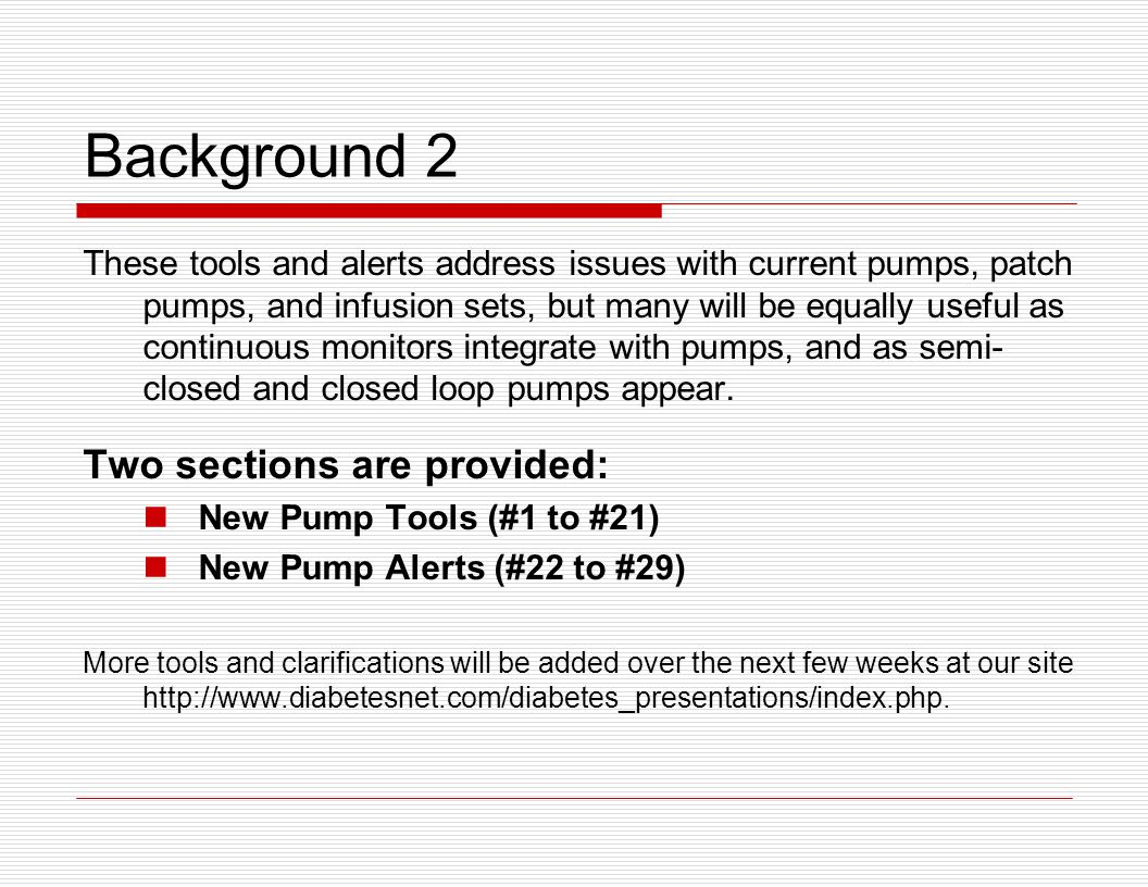 Principles What Pump Settings Affect Control.