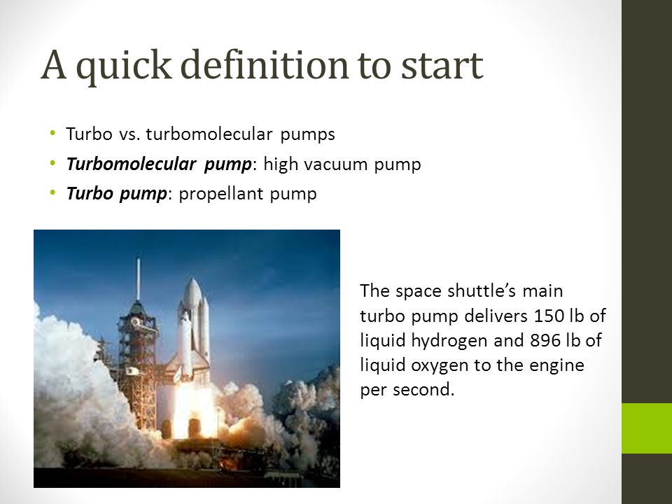 A quick definition to start Turbo vs.