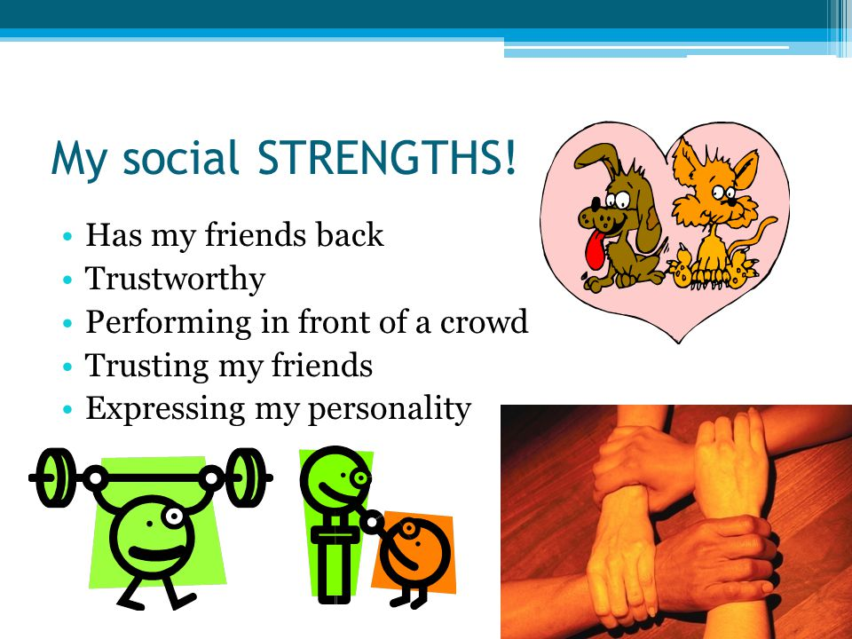 My social STRENGTHS.