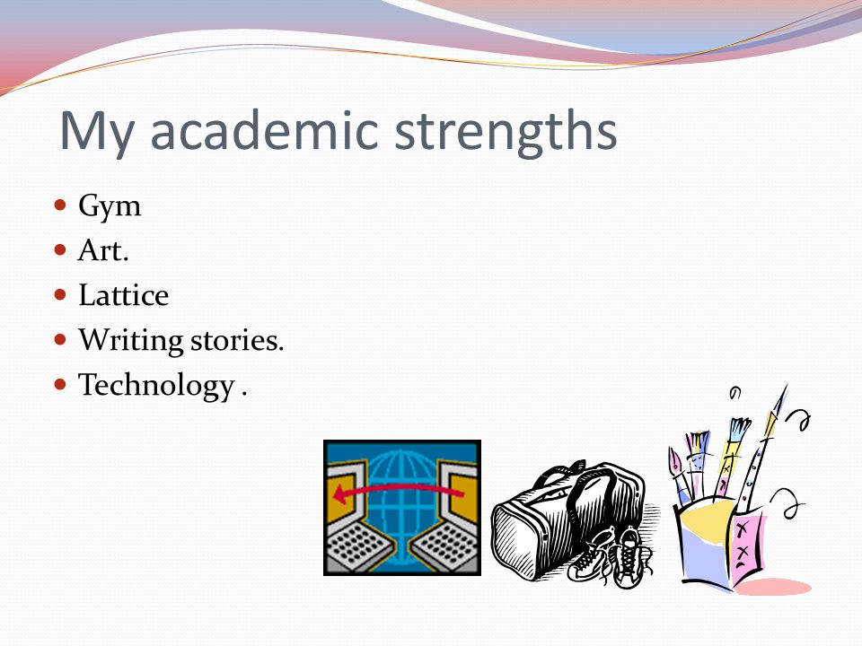 My academic weaknesses Getting to school on time.Dividing problems like 63 /527.