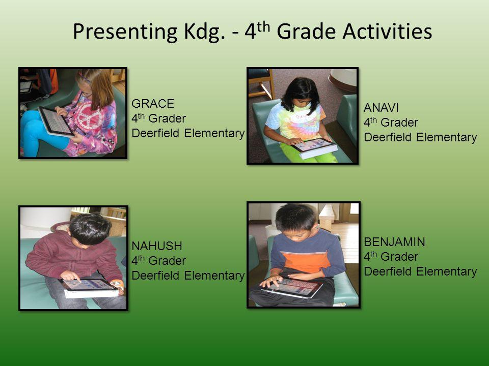 Presenting Kdg.