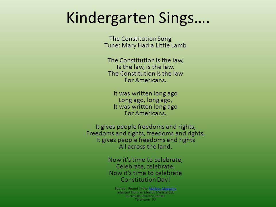 Kindergarten Sings….