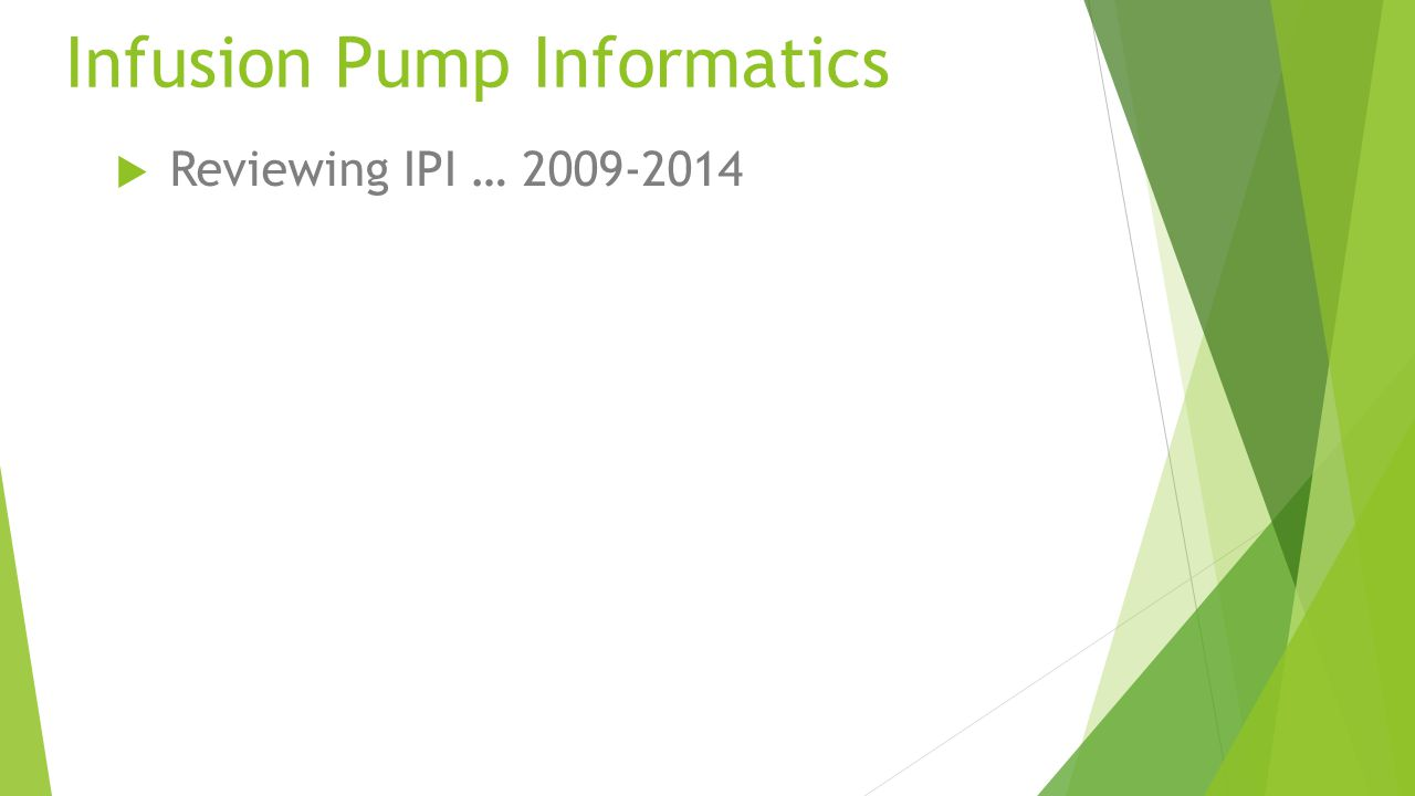  Reviewing IPI … 2009-2014  R&D Effort 2013-2014  What's new.