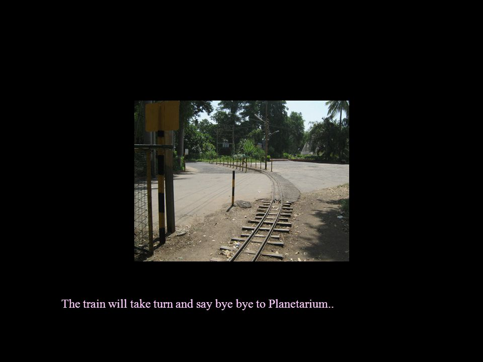 The toy train will cruse through the garden passing by roads..