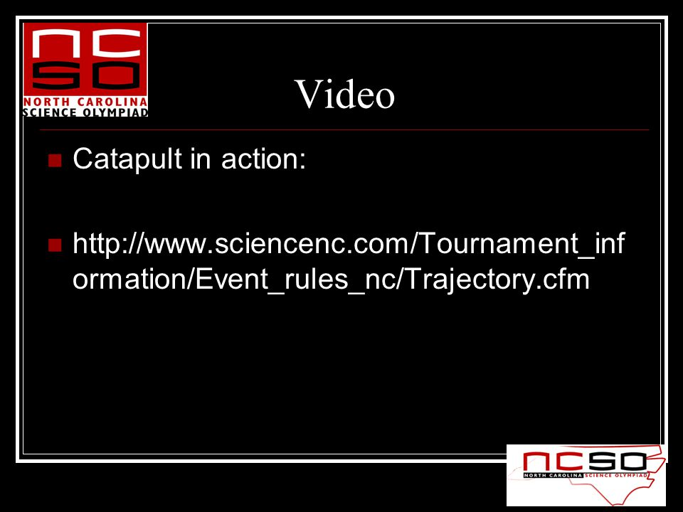 Video Catapult in action:   ormation/Event_rules_nc/Trajectory.cfm