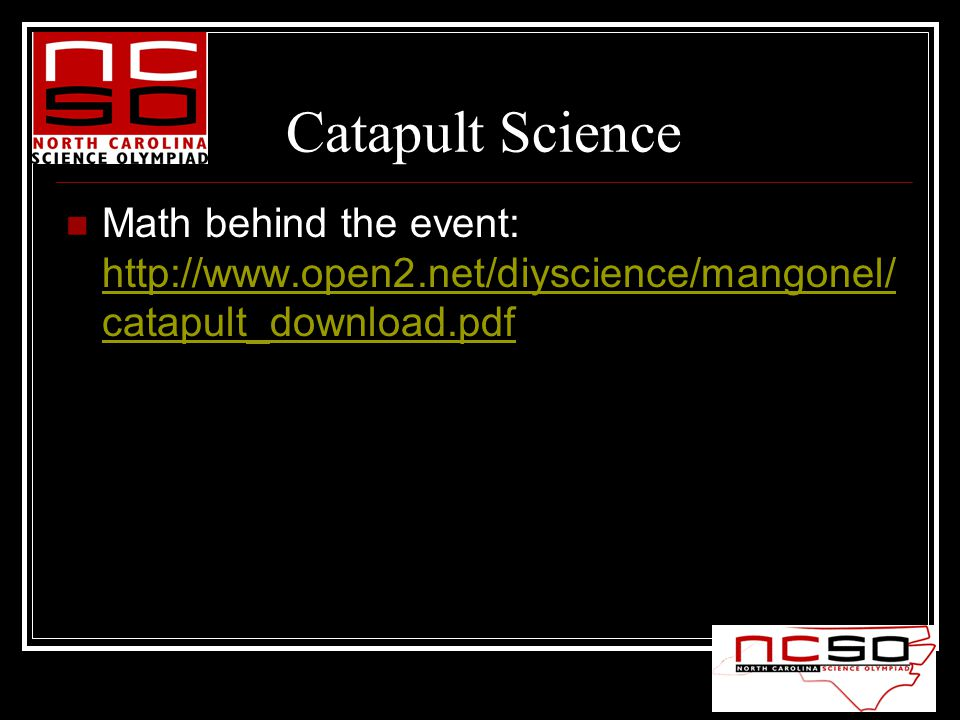Catapult Science Math behind the event:   catapult_download.pdf   catapult_download.pdf