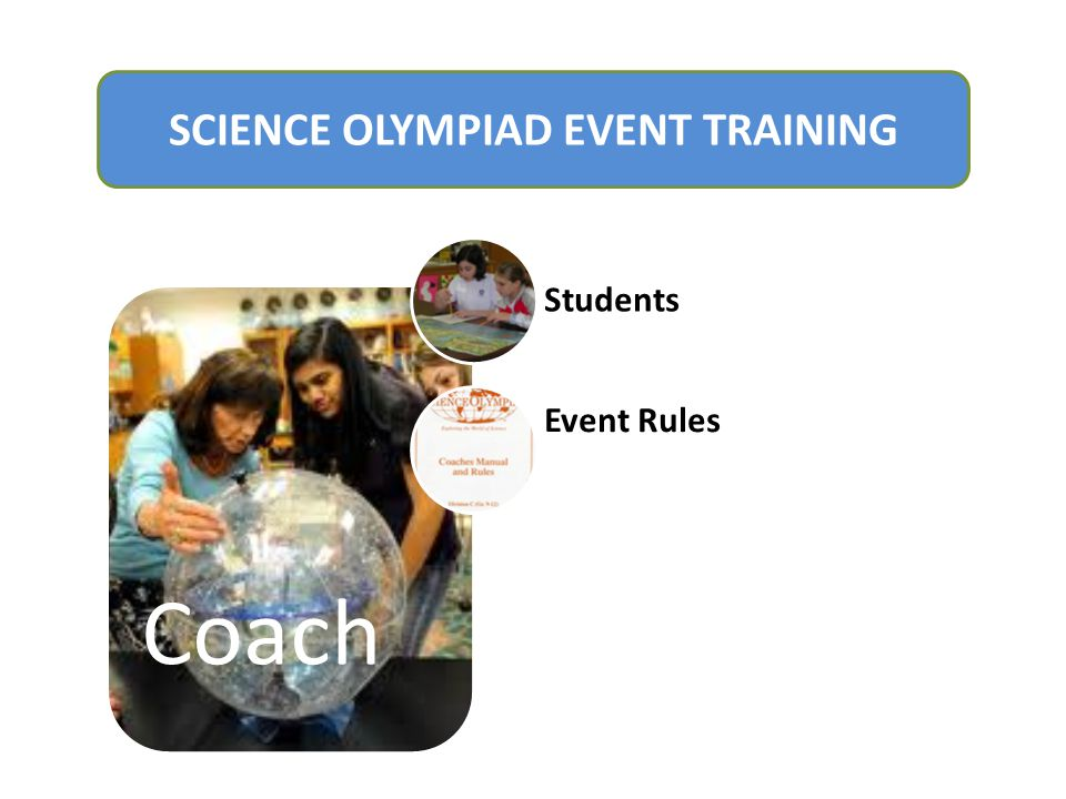 Coach Students Event Rules SCIENCE OLYMPIAD EVENT TRAINING