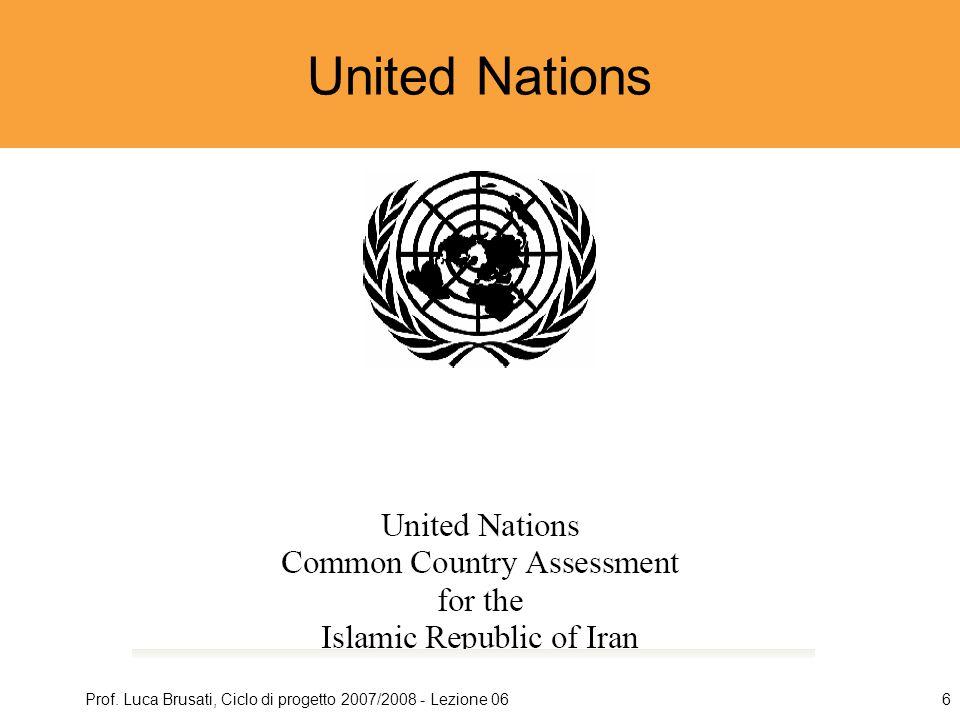 Prof. Luca Brusati, Ciclo di progetto 2007/2008 - Lezione 066 United Nations