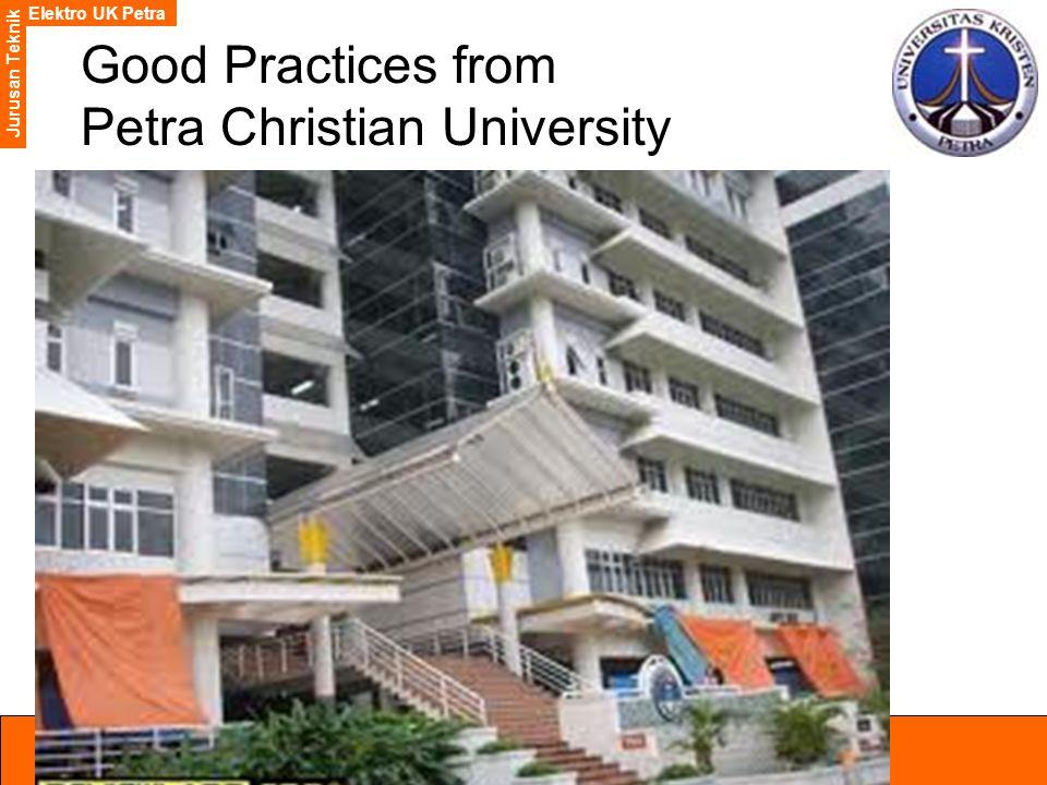 Elektro UK Petra Jurusan Teknik Good Practices from Petra Christian University