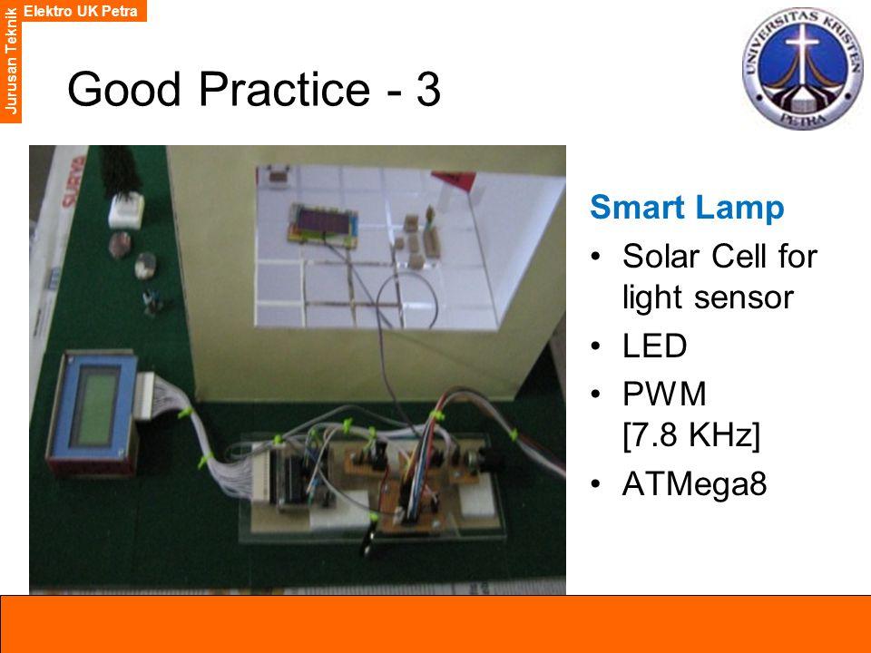 Elektro UK Petra Jurusan Teknik Good Practice - 3 Smart Lamp Solar Cell for light sensor LED PWM [7.8 KHz] ATMega8