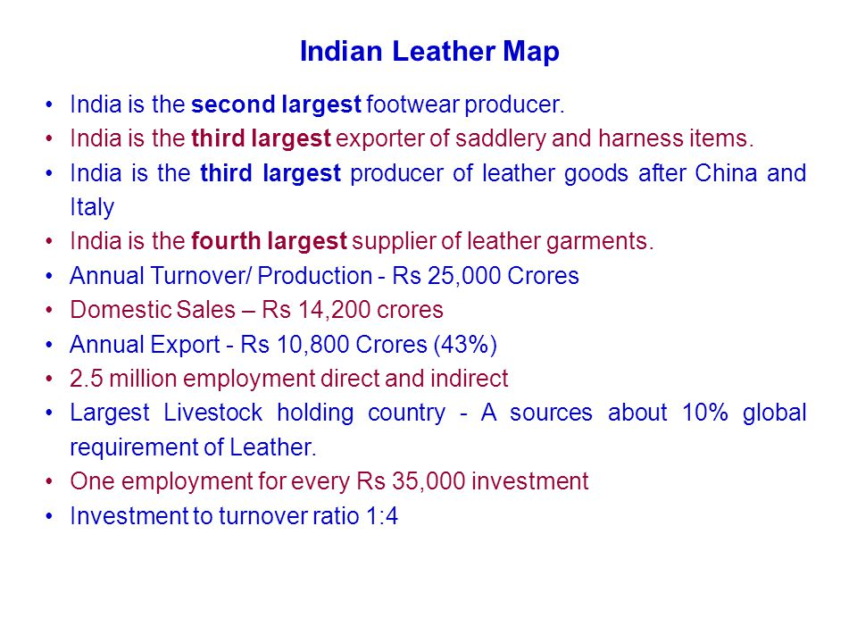 Major production Centre : Tamil Nadu, West Bengal, Uttar Pradesh, Punjab & Andra Pradesh.