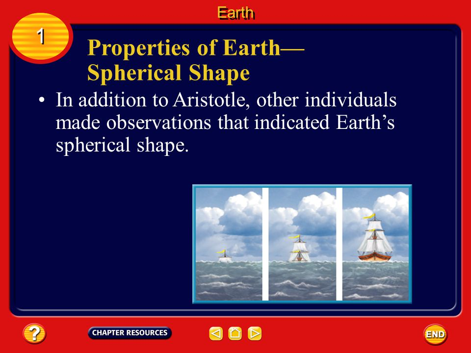1 1 In addition to Aristotle, other individuals made observations that indicated Earth's spherical shape.