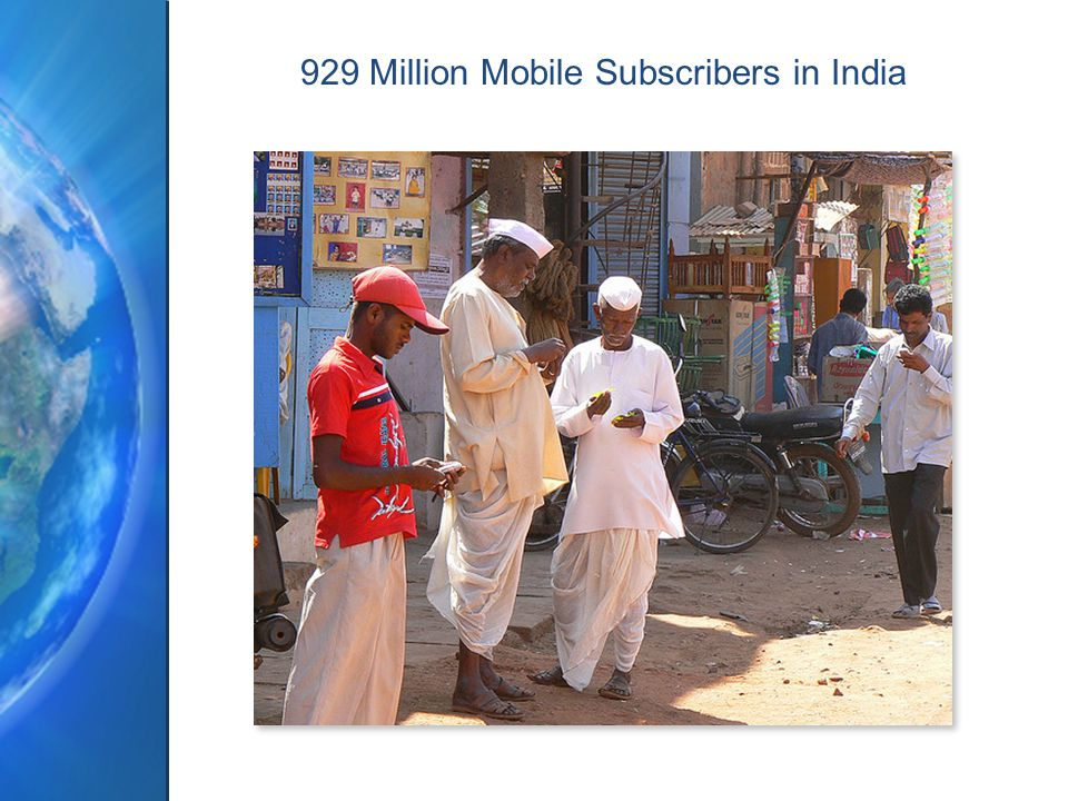 929 Million Mobile Subscribers in India