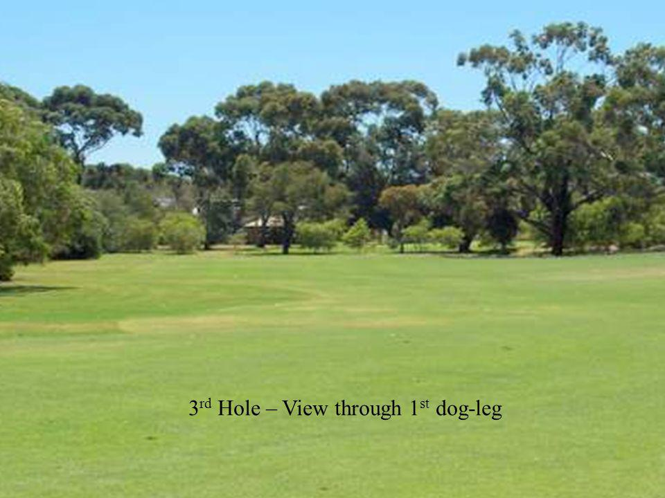 3 rd Hole – View through 1 st dog-leg