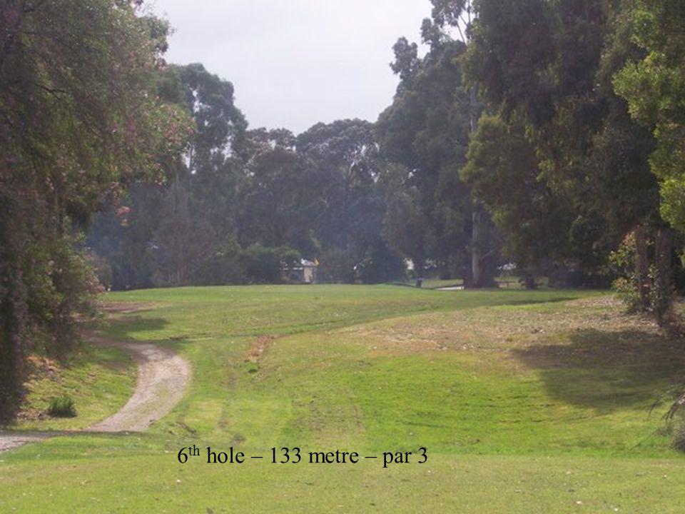 6 th hole – 133 metre – par 3