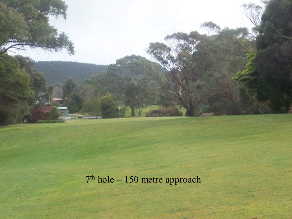 7 th hole – 150 metre approach