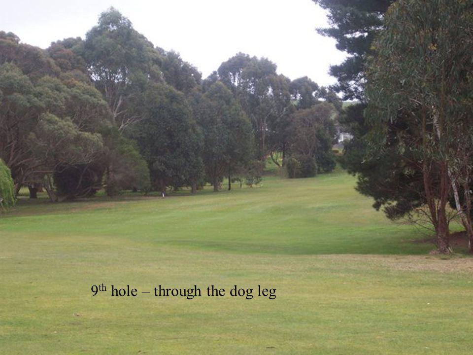 9 th hole – through the dog leg