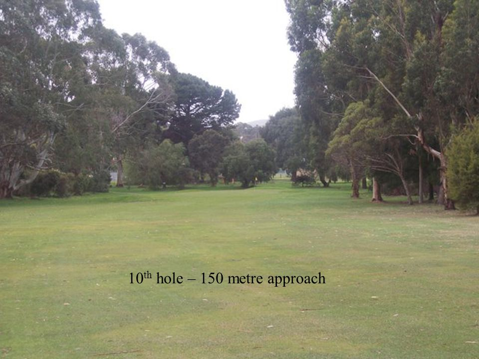 10 th hole – 150 metre approach