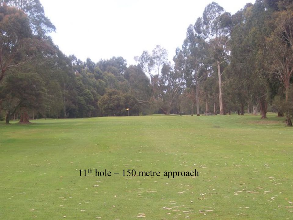 11 th hole – 150 metre approach