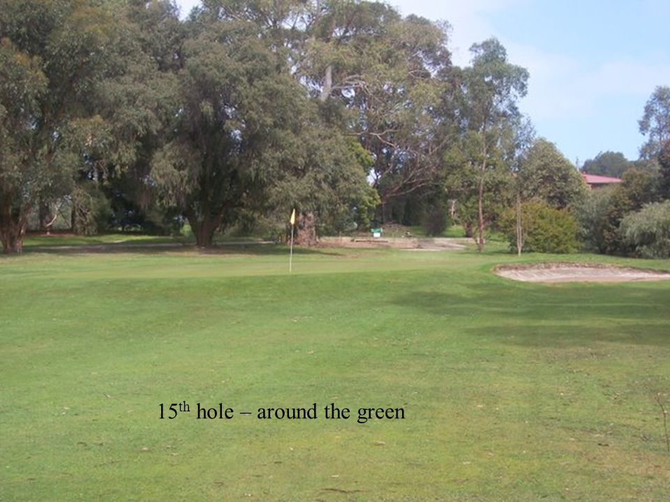 15 th hole – around the green
