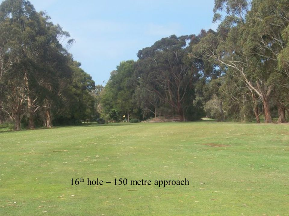 16 th hole – 150 metre approach