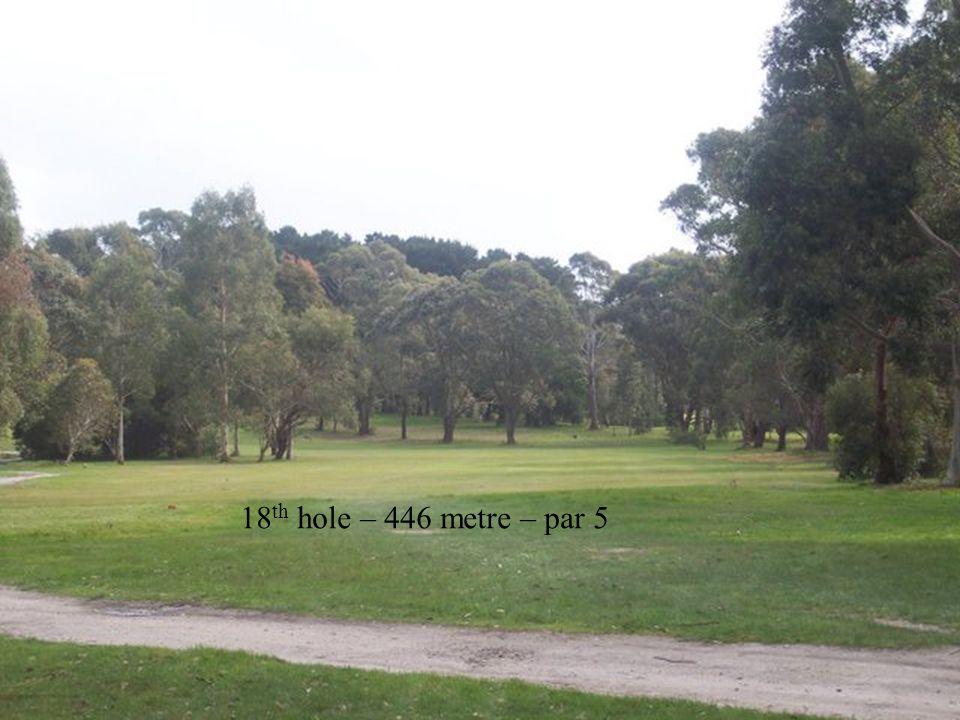 18 th hole – 446 metre – par 5