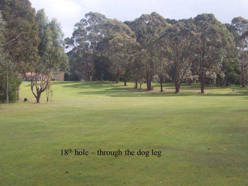 18 th hole – through the dog leg