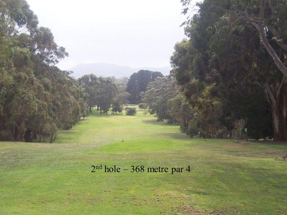 2 nd hole – 368 metre par 4