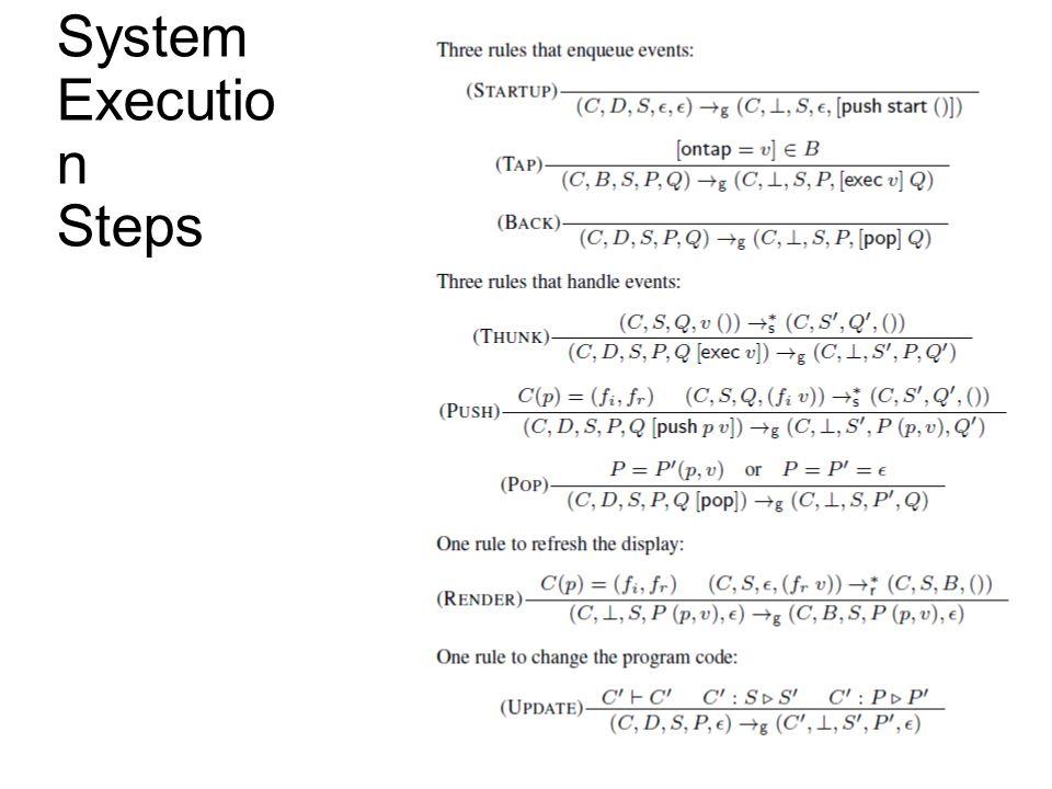 System Executio n Steps