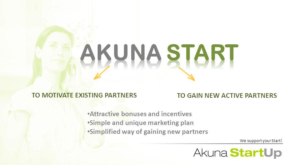 AKUNA START AKUNA START We support your Start.
