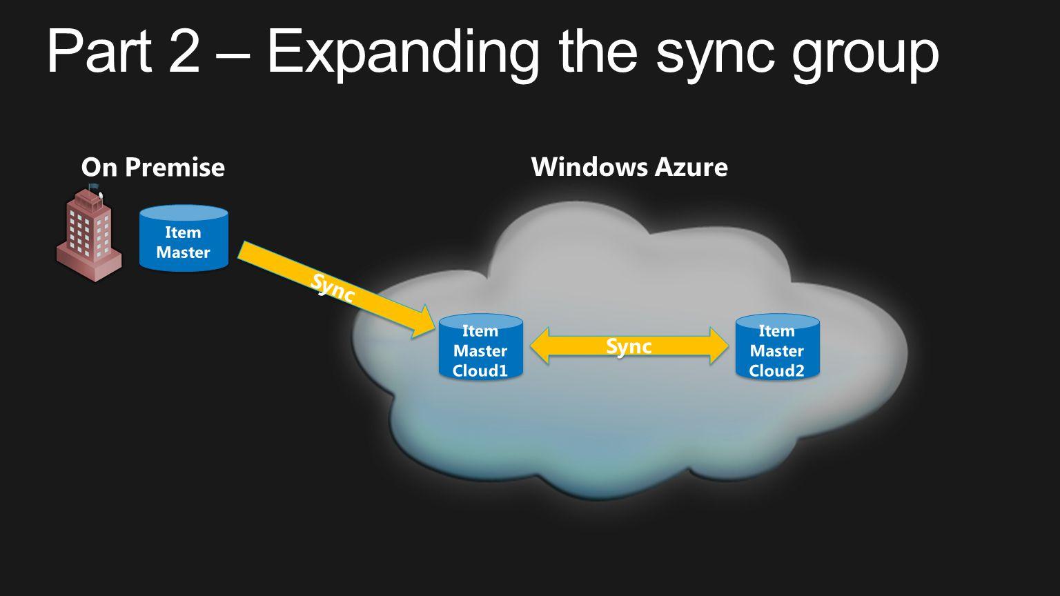 Windows Azure Sync On Premise Sync