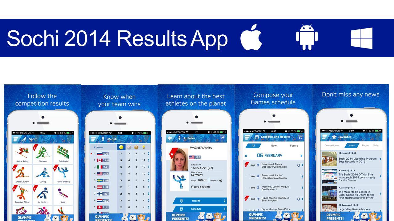 3 Sochi 2014 Results App