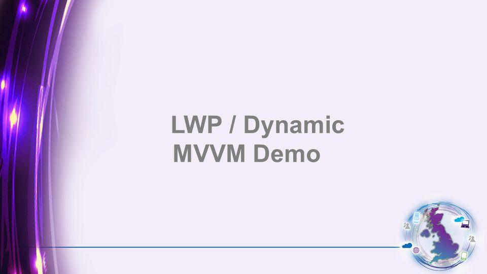 LWP / Dynamic MVVM Demo