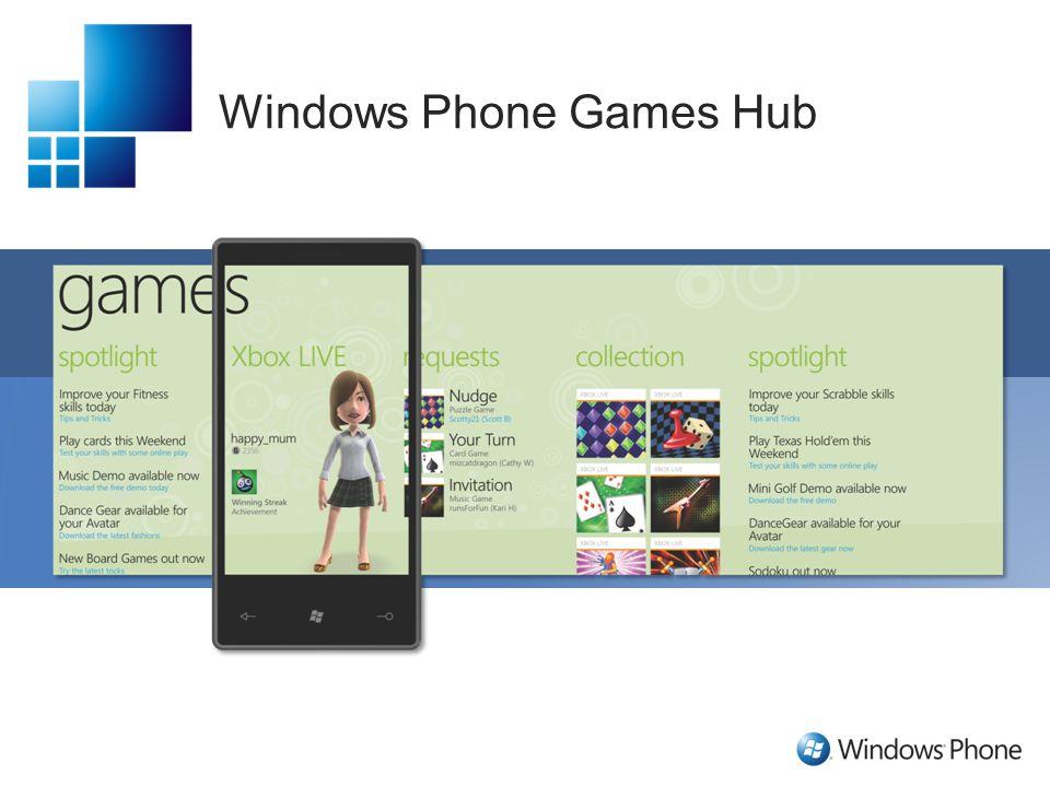 Windows Phone Games Hub