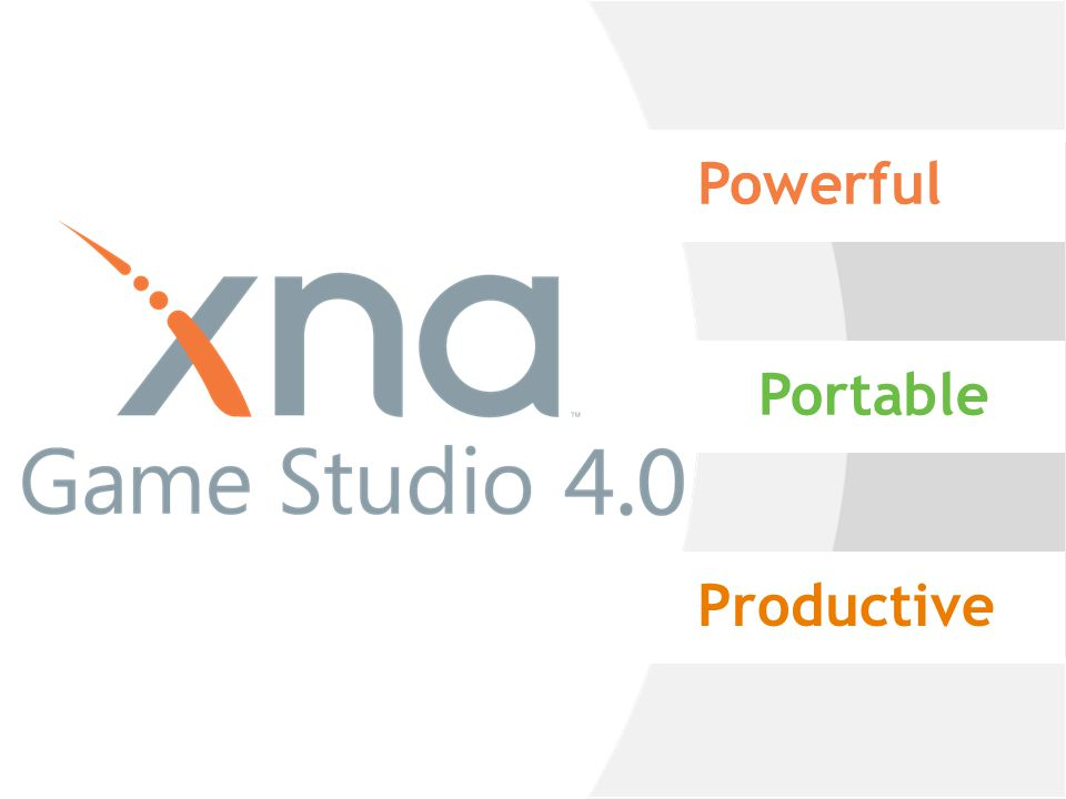 XNA Game Studio Creating Games Makes game development easier XNA Framework provides robust APIs for games C#,.NET & Visual Studio tooling Solutions for game content processing Not an engine solution