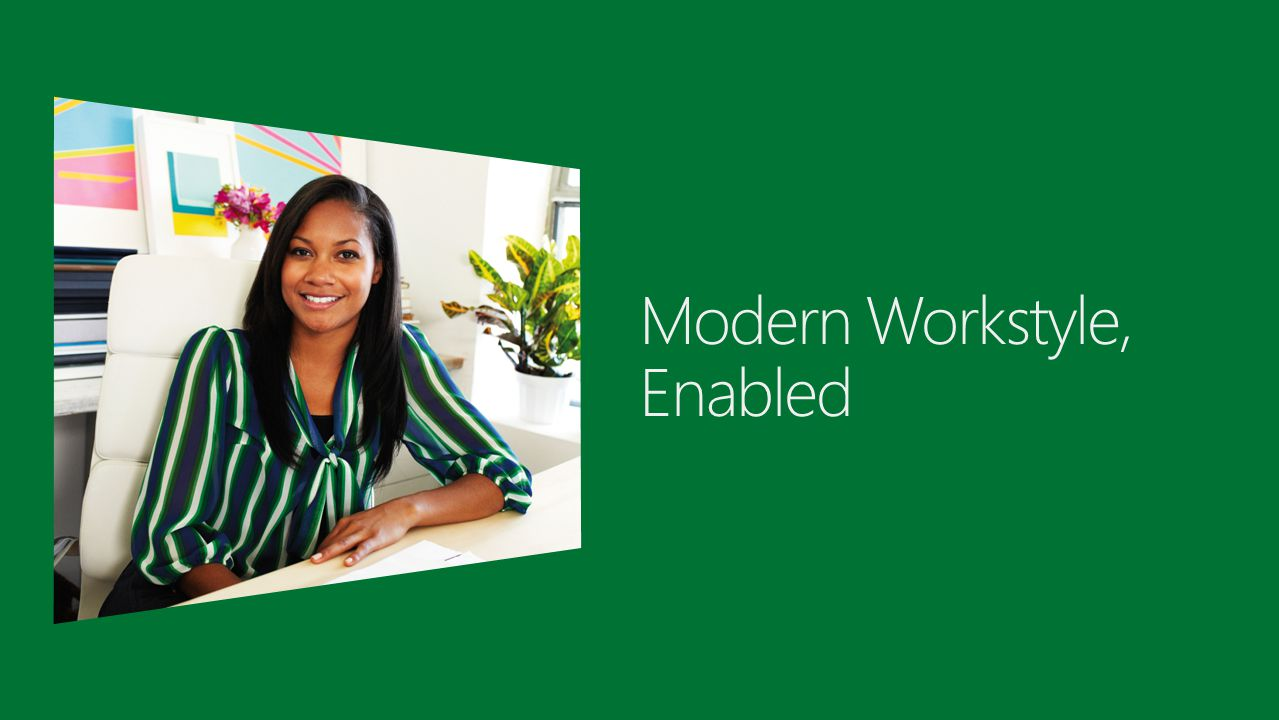 2  Industry trends and challenges  Windows Server 2012: Modern workstyle, enabled  Access from virtually anywhere, any device  Full Windows experience anywhere  Enhanced data security and compliance  Summary  Get started