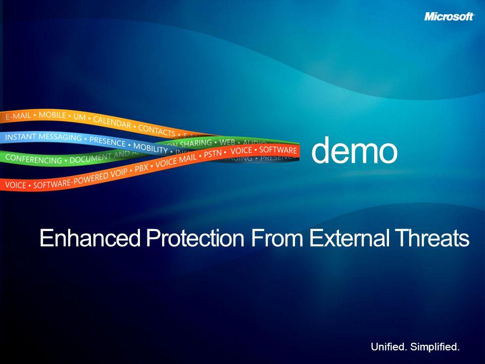 Unified. Simplified. Enhanced Protection From External Threats