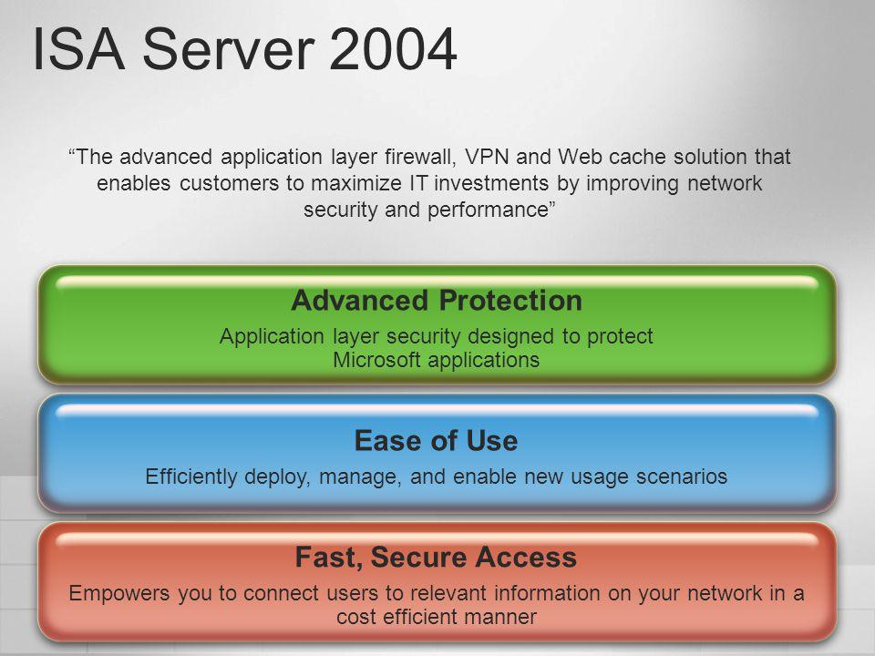 Introducing ISA Server 2004 Introducing ISA Server 2004 Explore the User Interface Create Perimeter Network demonstration demonstration