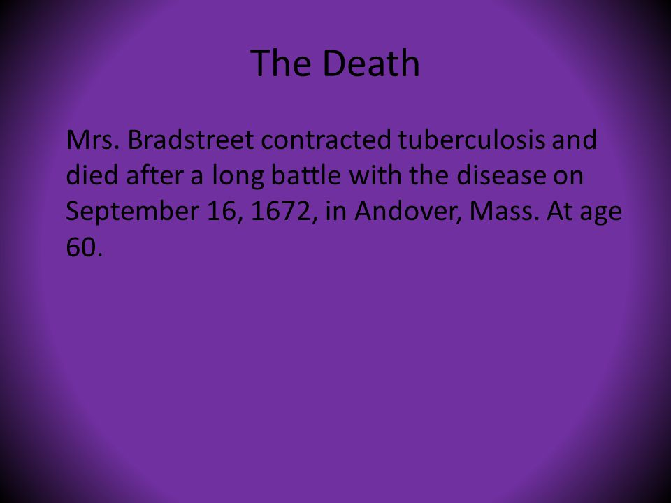 The Death Mrs.