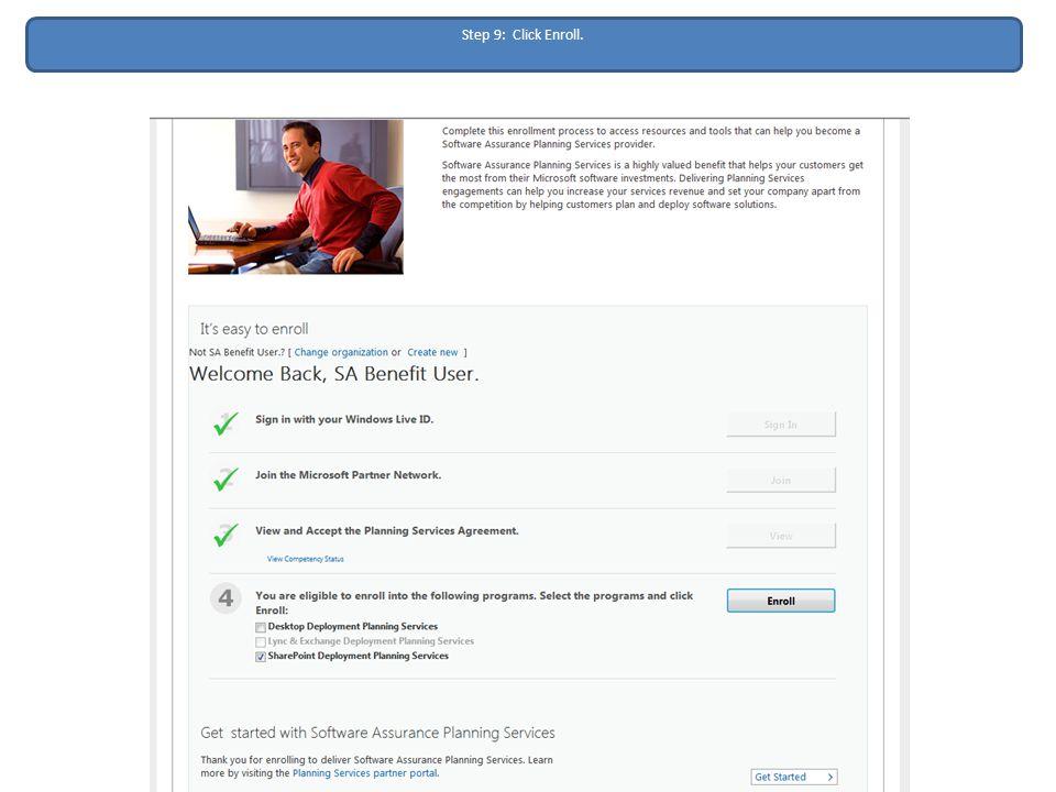 Step 9: Click Enroll.