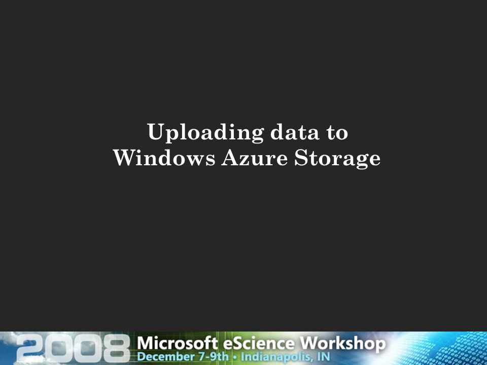 Uploading data to Windows Azure Storage