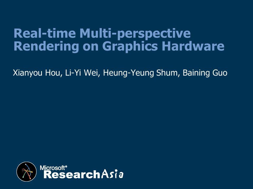 Xianyou Hou, Li-Yi Wei, Heung-Yeung Shum, Baining Guo Real-time Multi-perspective Rendering on Graphics Hardware