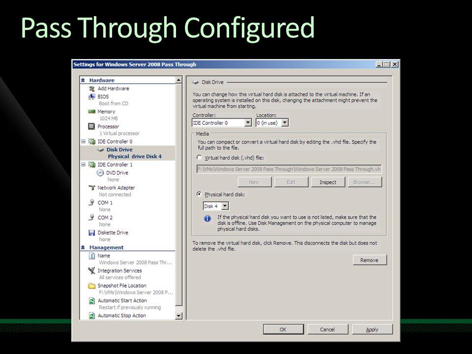 Pass Through Configured