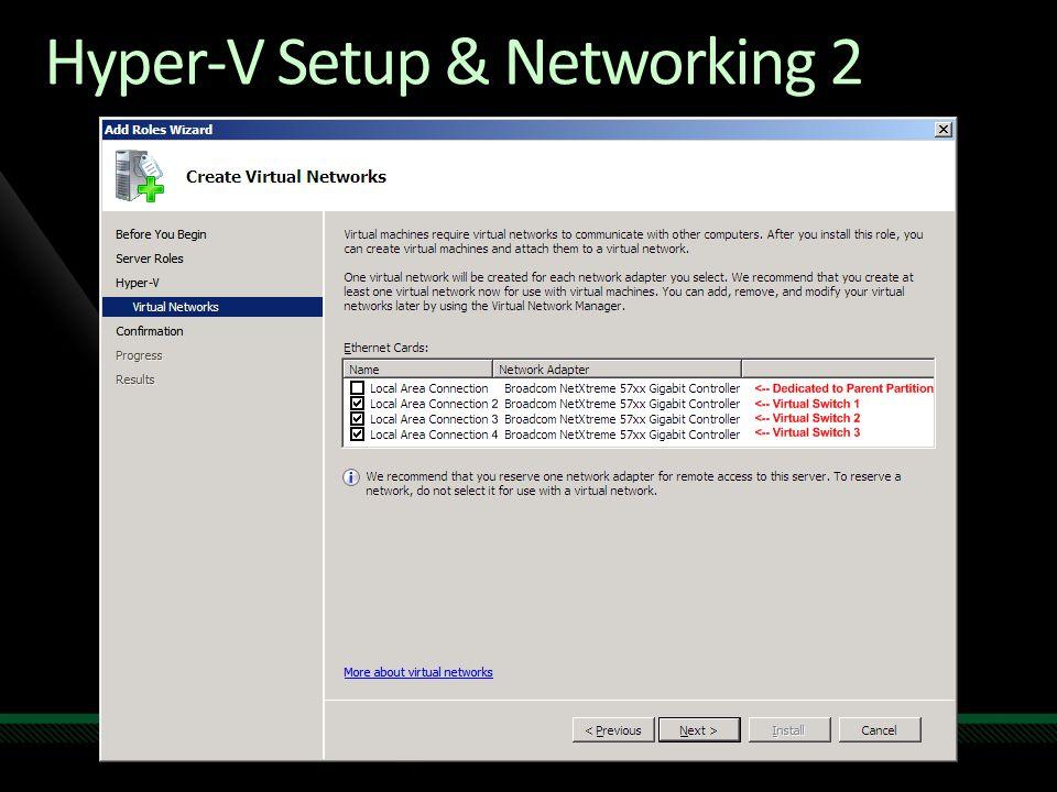 Hyper-V Setup & Networking 2