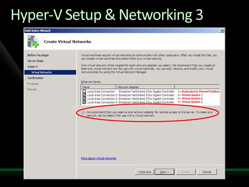 Hyper-V Setup & Networking 3