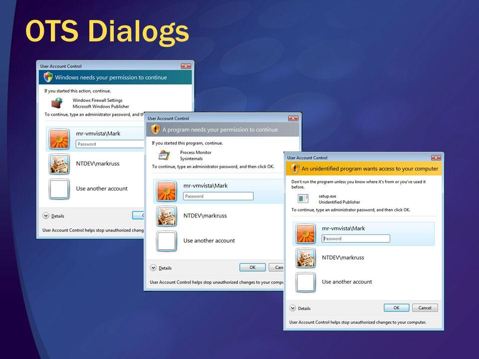 OTS Dialogs
