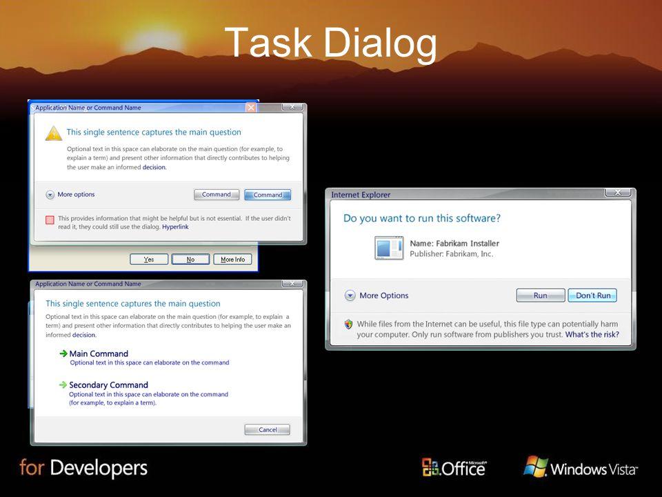 Task Dialog